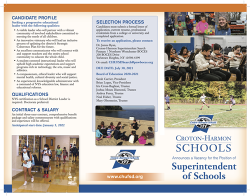 Superintendent Brochure Page 1 - click for full PDF