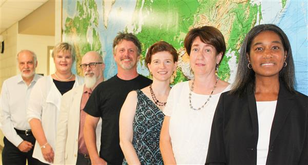 Board Members (Left to Right): Neal Haber, Elizabeth Lynam, Joshua Diamond, Brian Loges, Sarah Carrier, Vice President Andrea
