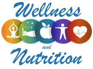 Wellness and Nutrition Symbols in Colored Circles - Meditation, Sleep, Apple, Body, Heart