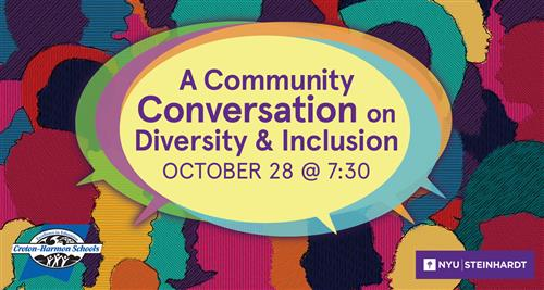 Please join us on October 28 at 7:30pm for a Community Conversation on Equity and Inclusion