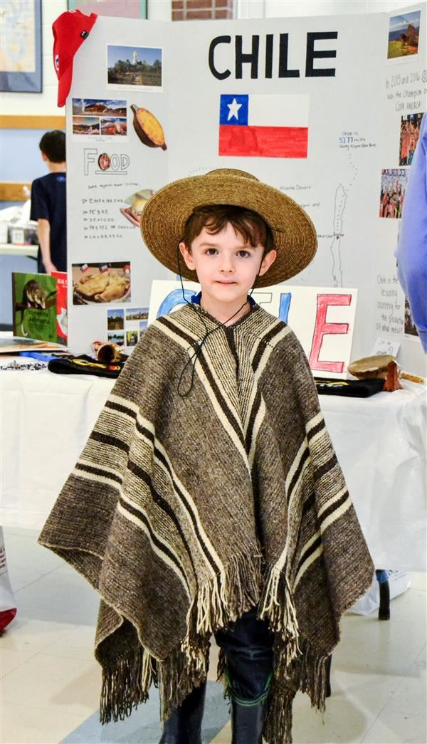 boy dress in chilean costume